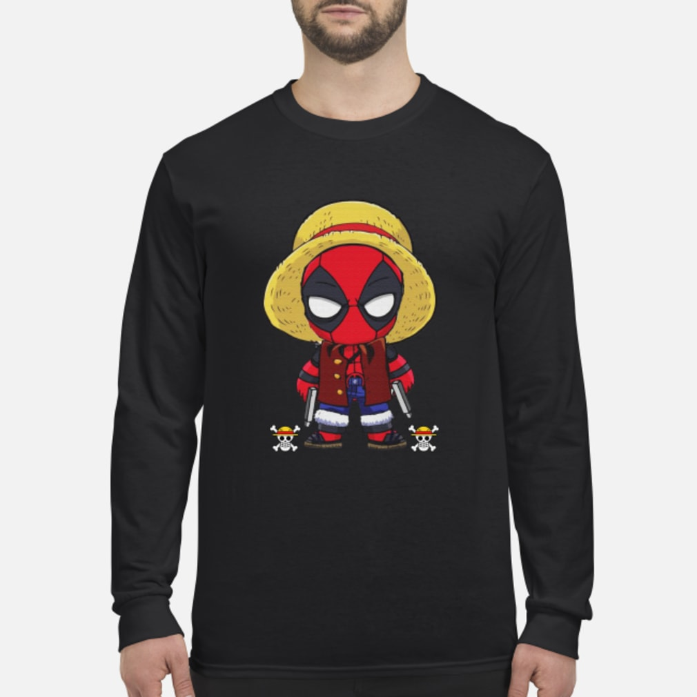 Deadpool Luffy funny One piece shirt Long sleeved