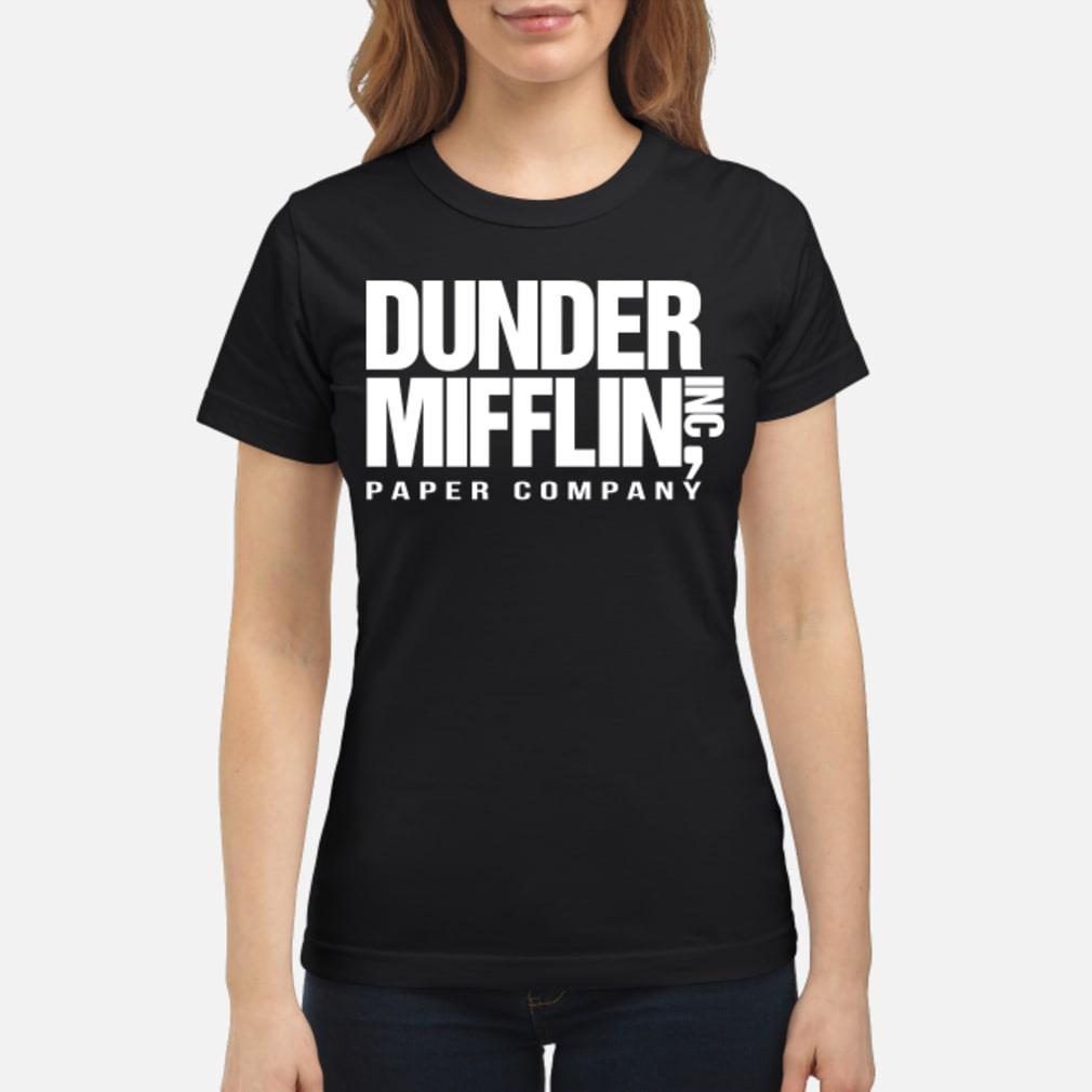 Dunder mifflin hoodie ladies tee