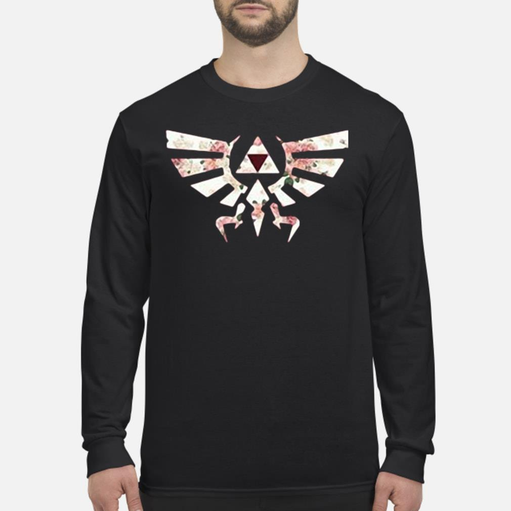 Floral triforce symbol shirt Long sleeved