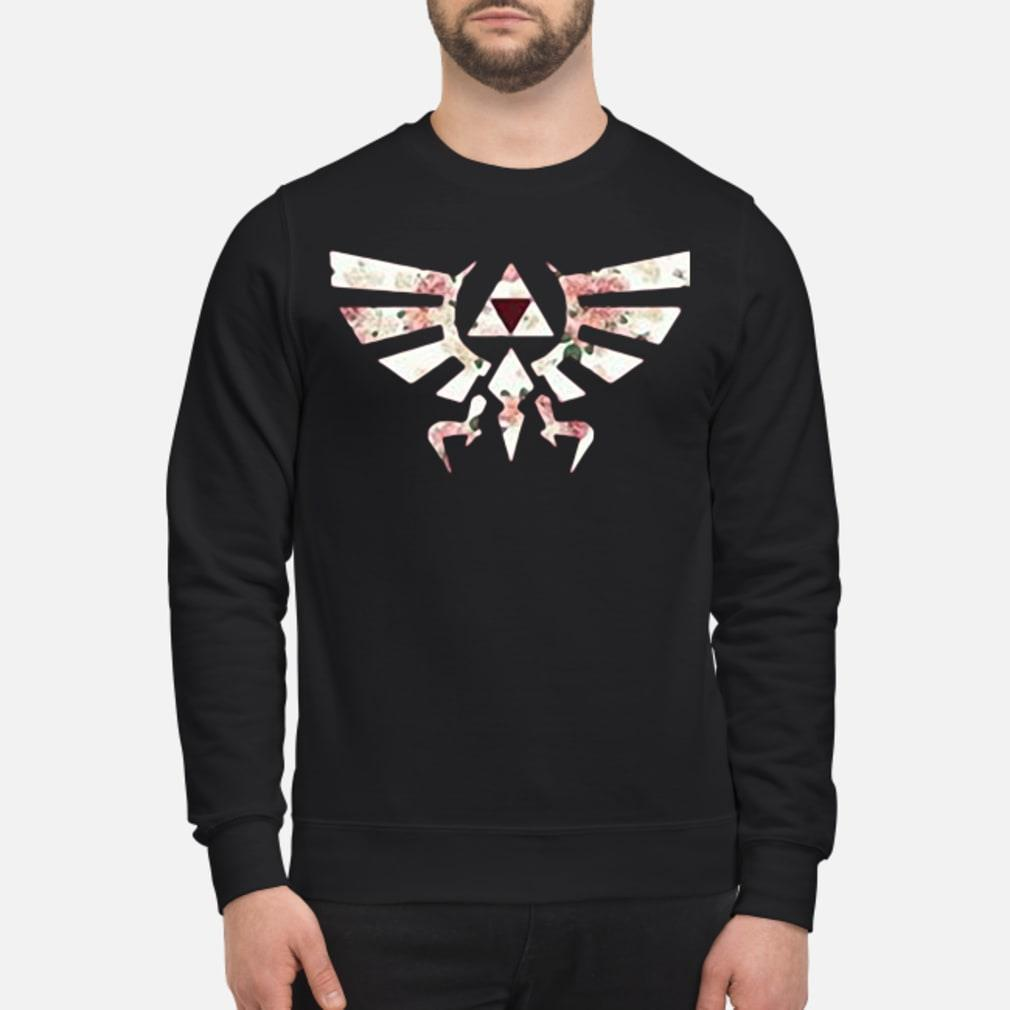 Floral triforce symbol shirt sweater