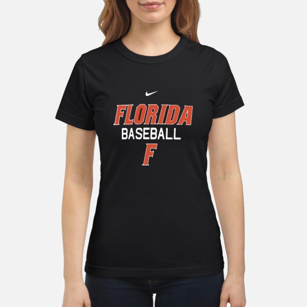 Florida Gator baseball F shirt ladies tee
