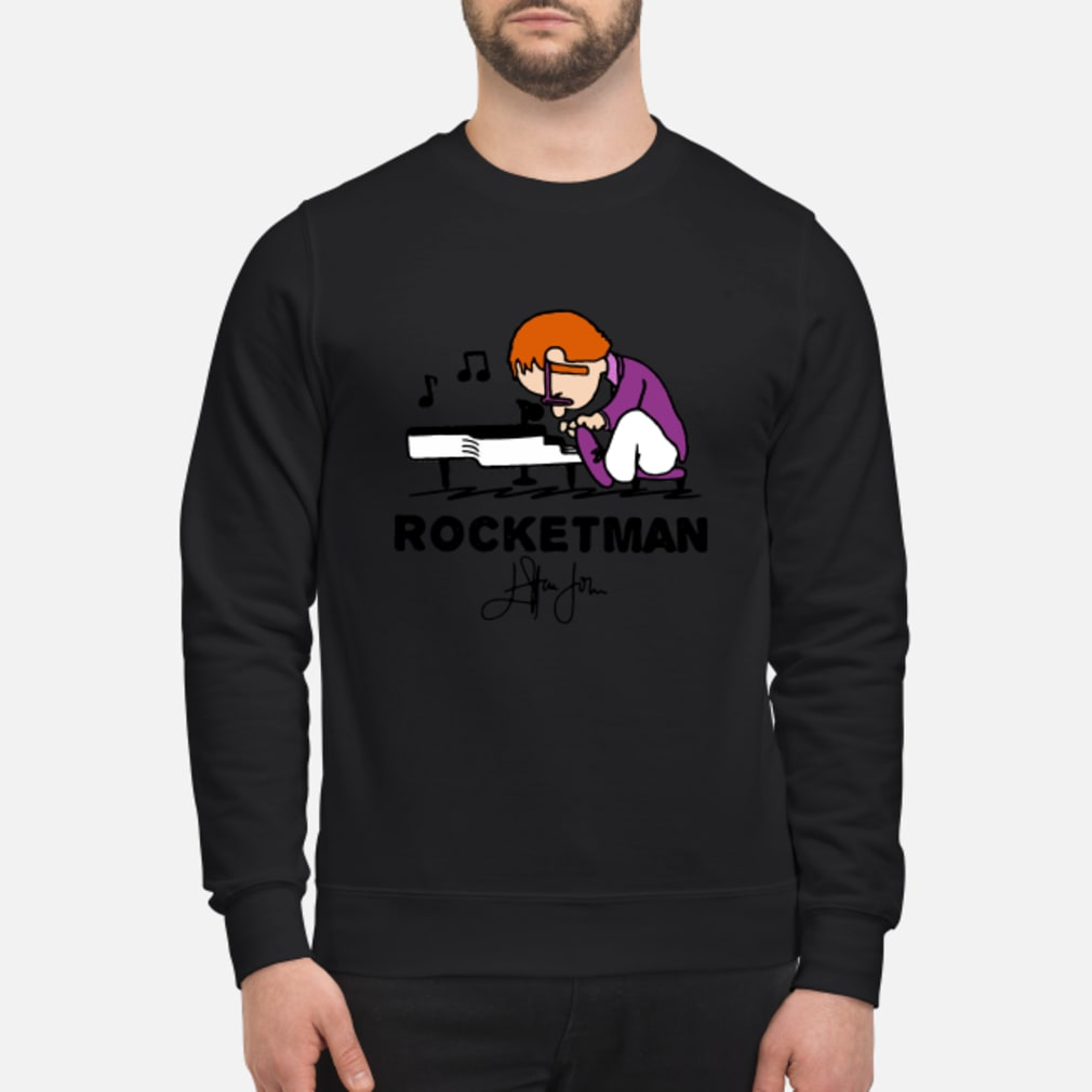 Freddie Mercury Playing Piano Rocketman Signature shirt sweater