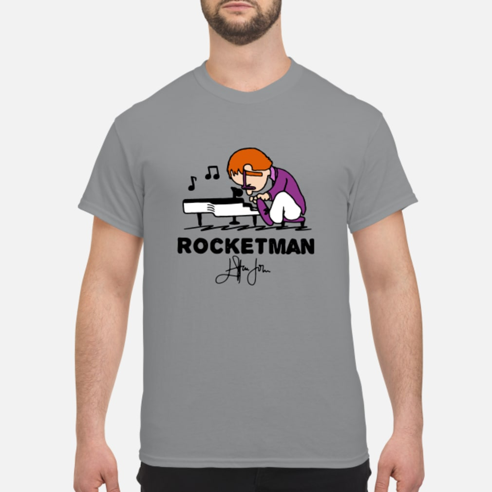 Freddie Mercury Playing Piano Rocketman Signature shirt