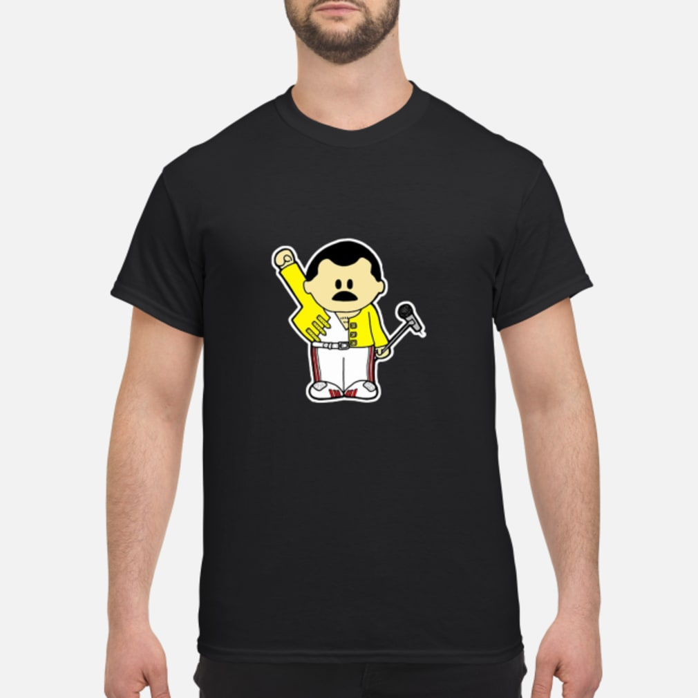 Freddie Mercury Queen Inspired Cartoon Adults shirt