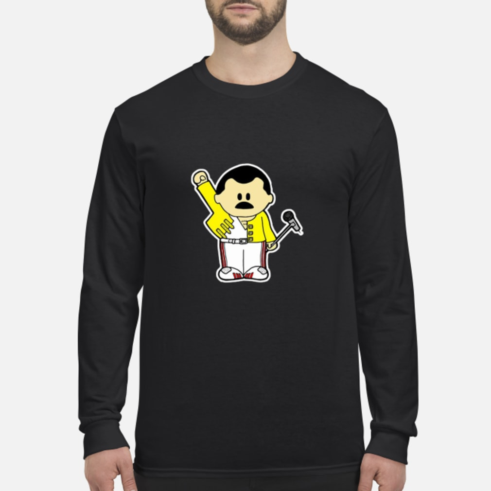 Freddie Mercury Queen Inspired Cartoon Adults shirt long sleeved