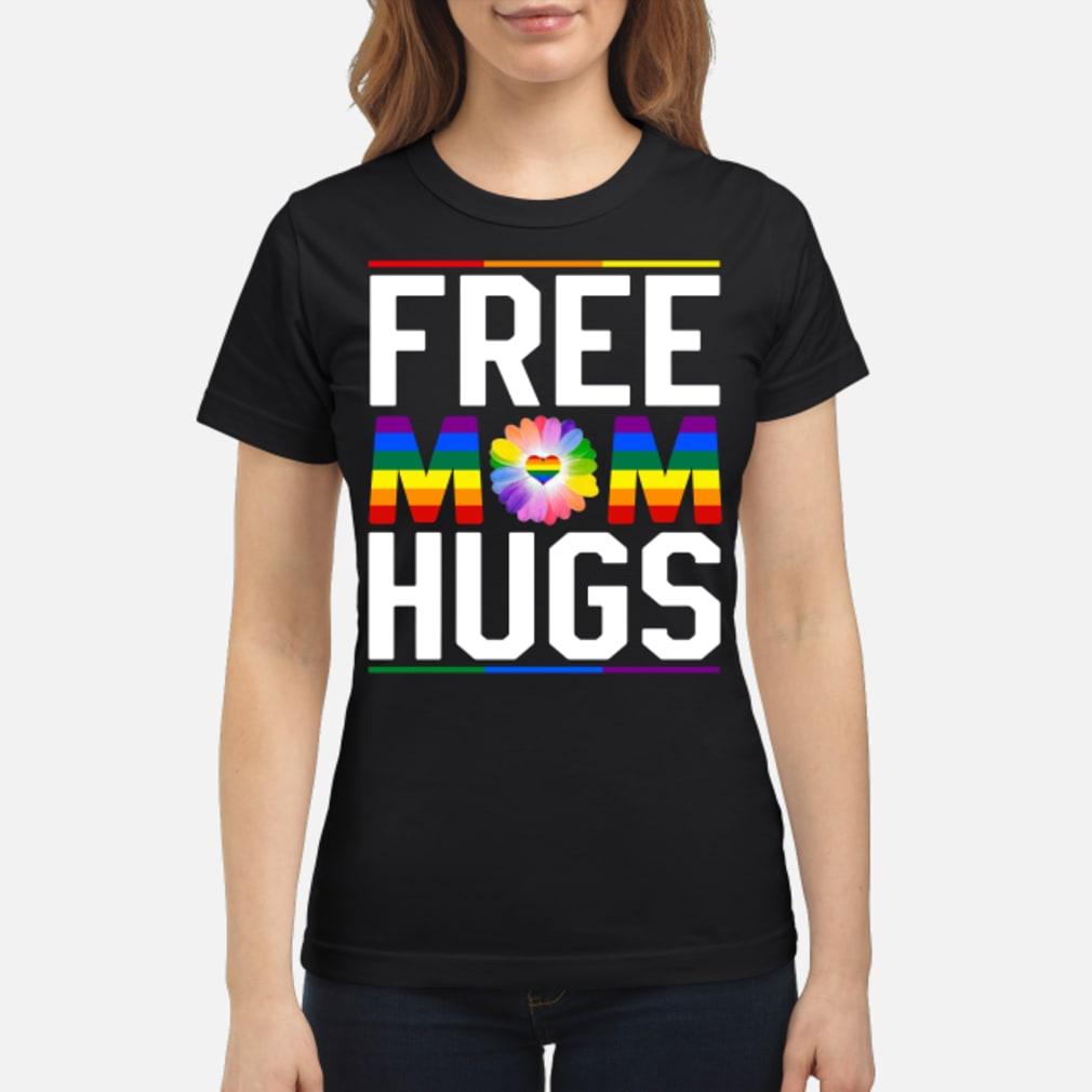 Free mom hugs pride LGBT shirt ladies tee