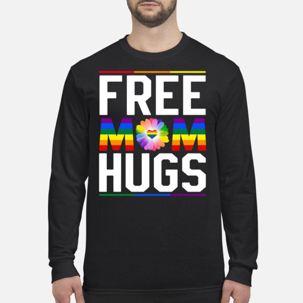 Free mom hugs pride LGBT shirt long sleeved