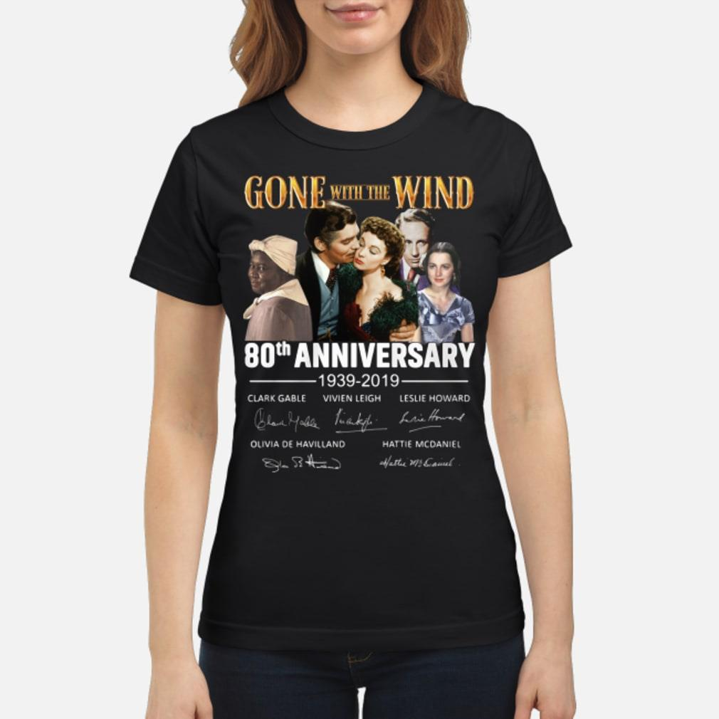 Gone With The Wind 80th Anniversary Signature Shirt ladies tee