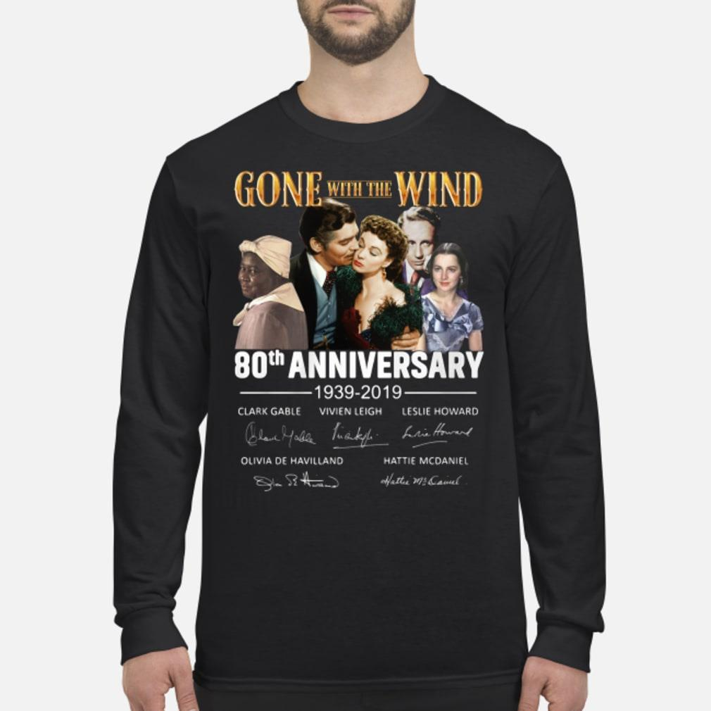 Gone With The Wind 80th Anniversary Signature Shirt Long sleeved