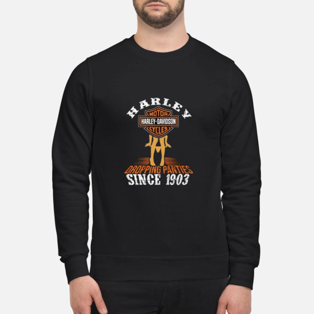 Harley motor harley davidson cycles dropping panties since 1903 shirt sweater