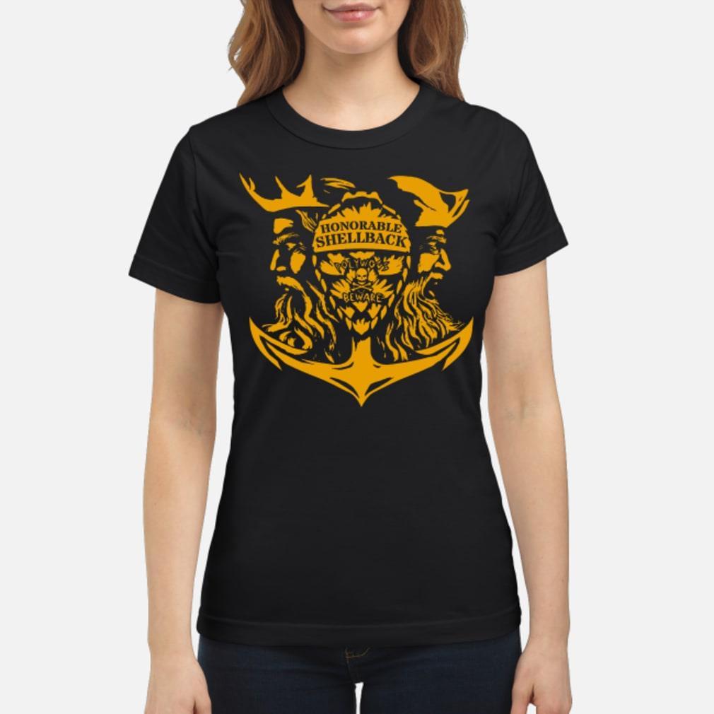 Honorable Shellback Pollywog Beware Shirt ladies tee