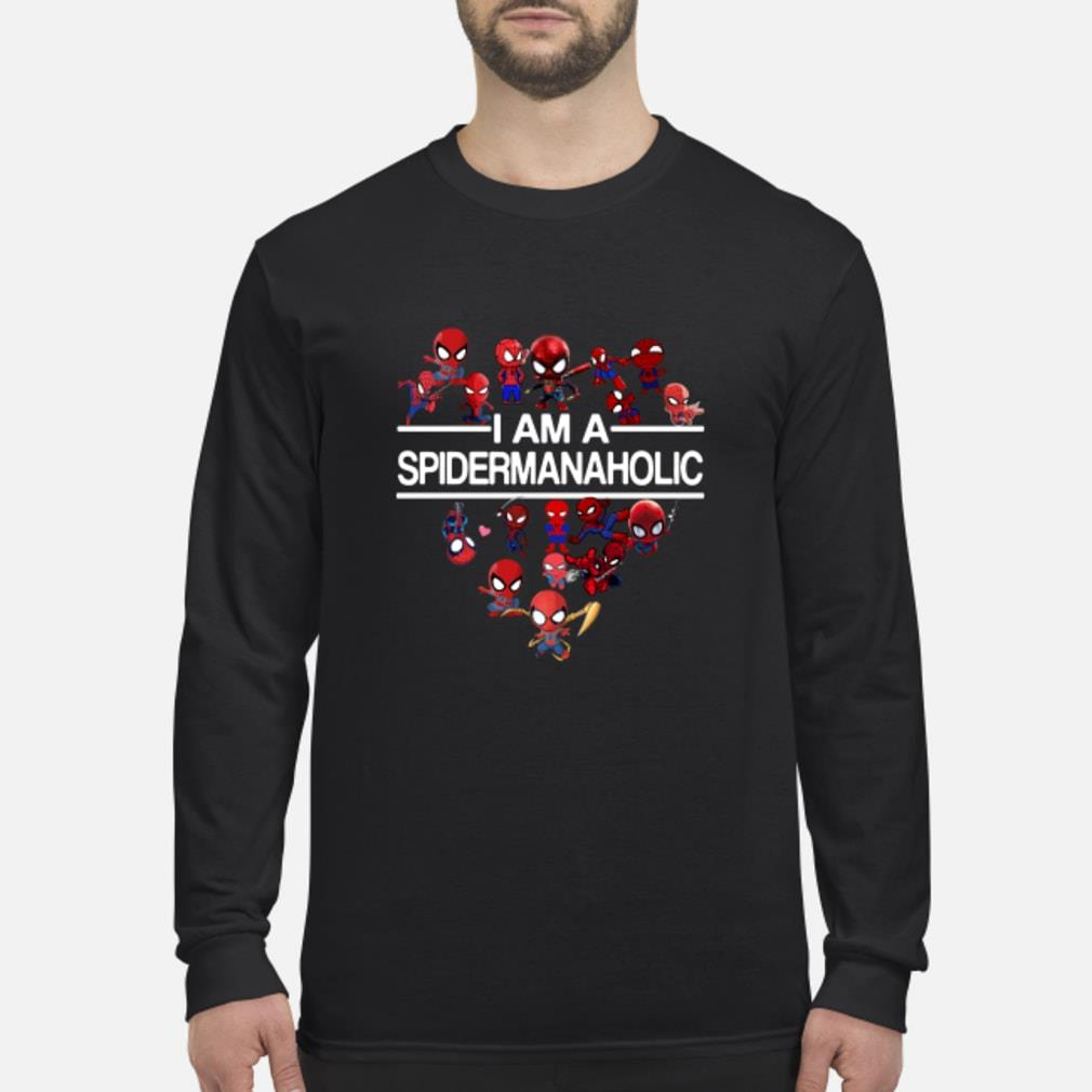 I Am A Spiderman Aholic Shirt Long sleeved