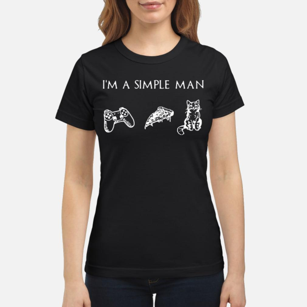 I'm simple man and Cat shirt ladies tee