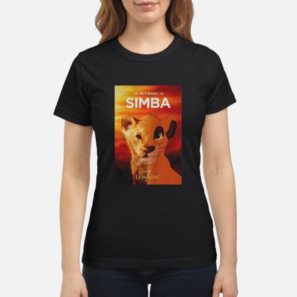 JD McCrary Is Simba The Lion King Shirt ladies tee
