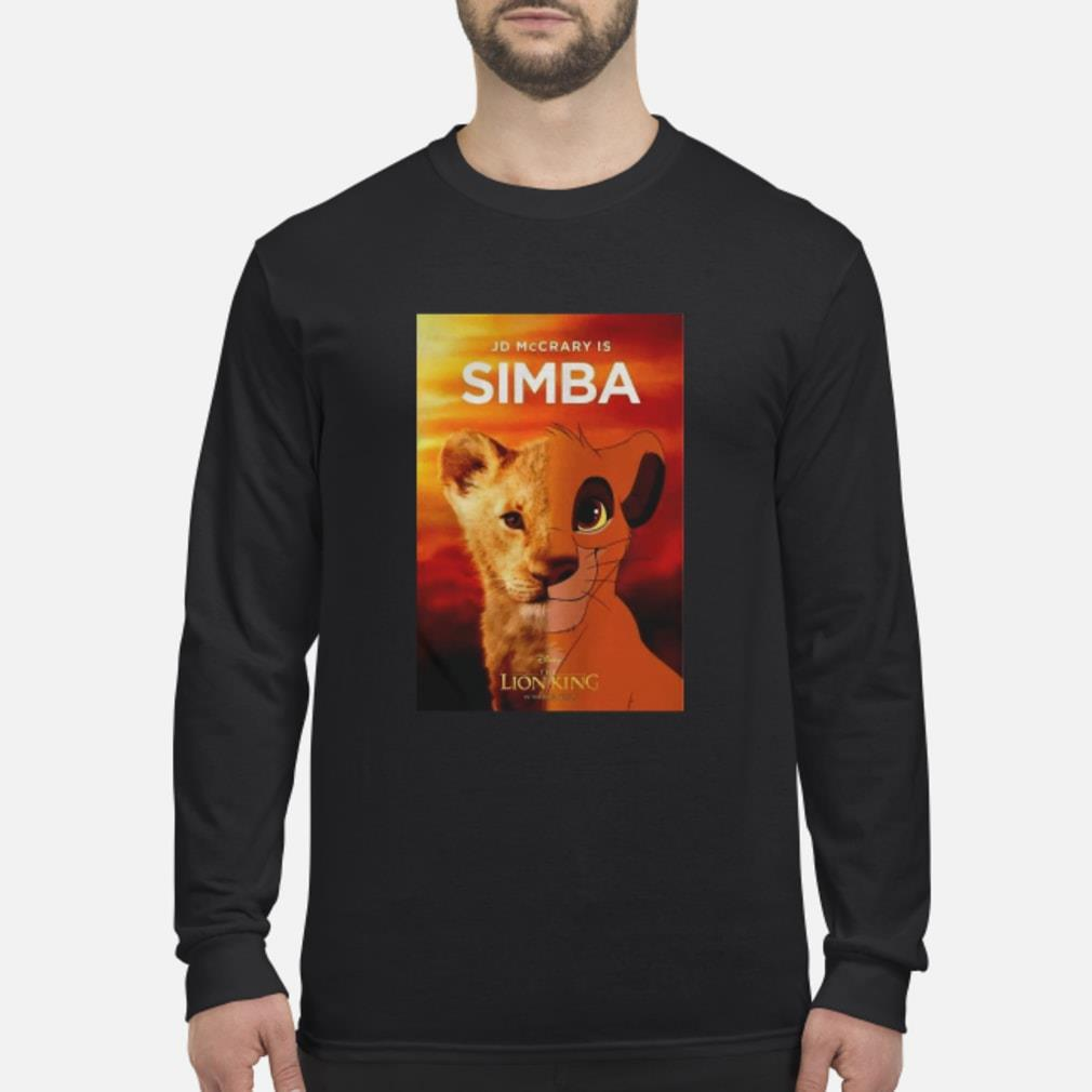 JD McCrary Is Simba The Lion King Shirt Long sleeved