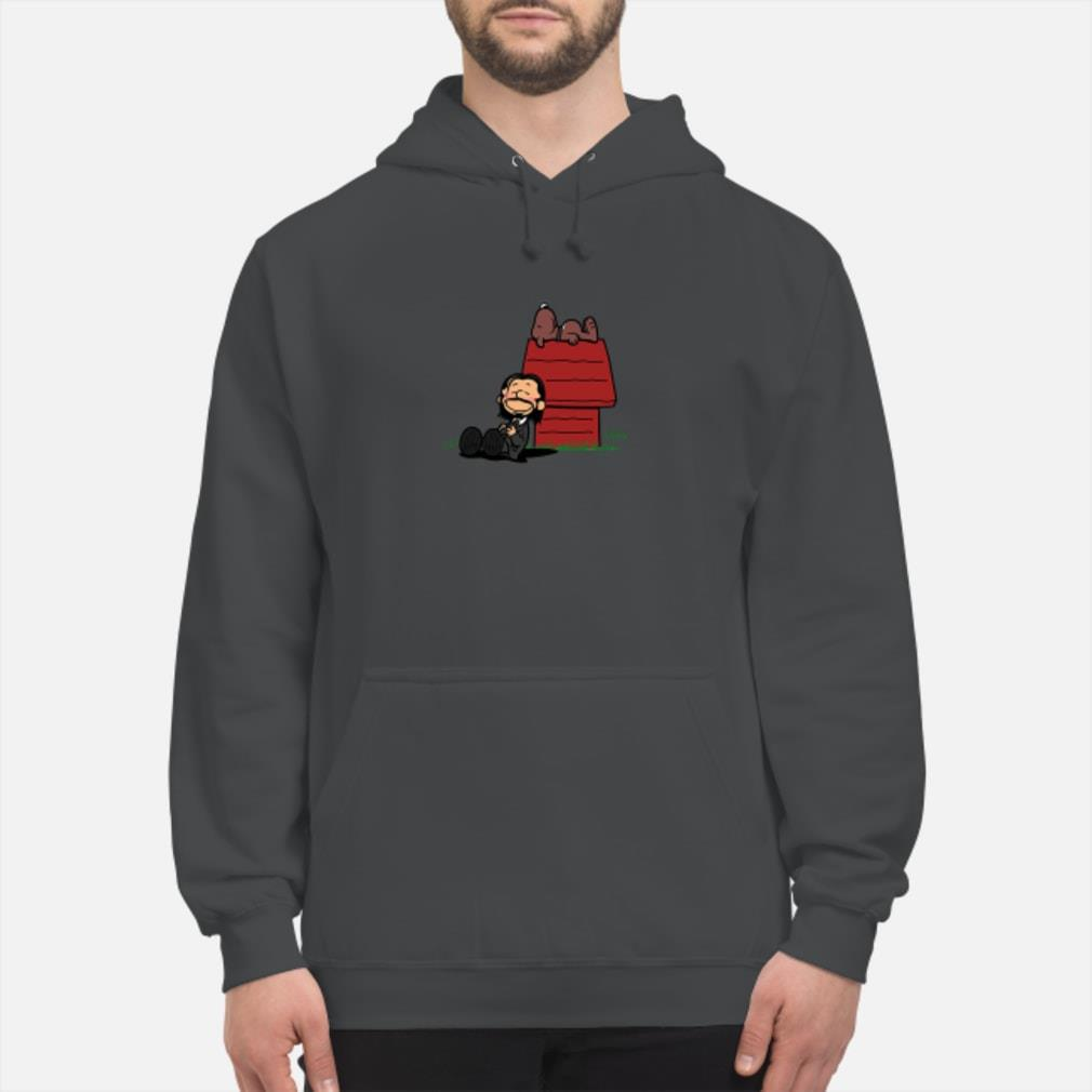 John Wick and dog in the style of Peanuts Charlie Brown and Snoopy Shirt hoodie