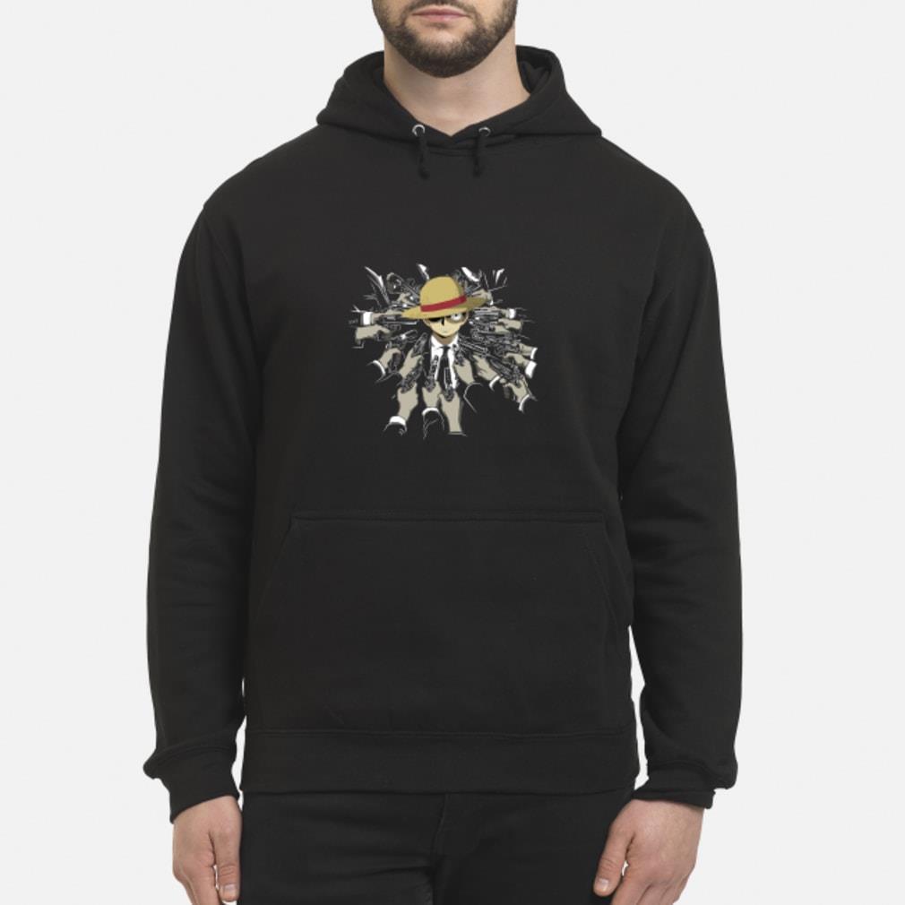John Wick parody Luffy shirt hoodie