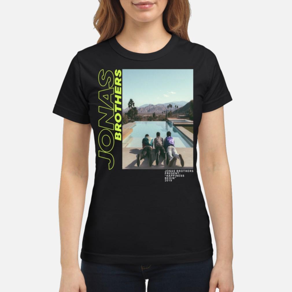 097d7dc15 Jonas Brothers–Jonas Brothers present happiness being 2019 shirt ladies tee