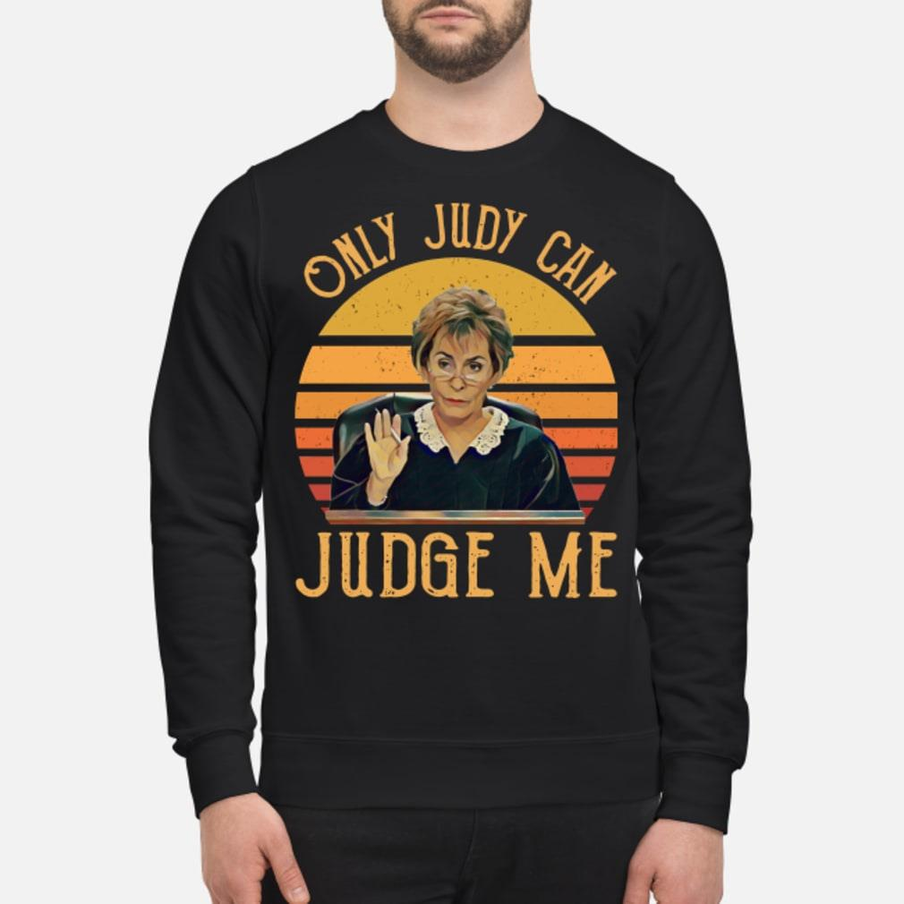 Judy Sheindlin Judge me retro sunset shirt sweater