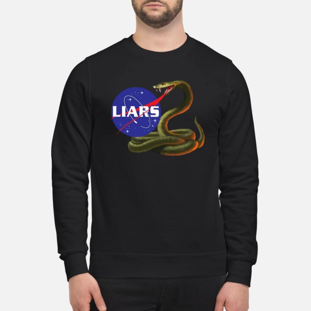Liars Nasa logo Snake shirt sweater