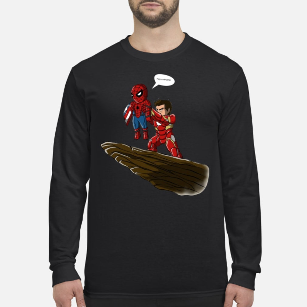 Lion King Spider-Man And Iron Man hey everyone shirt long sleeved