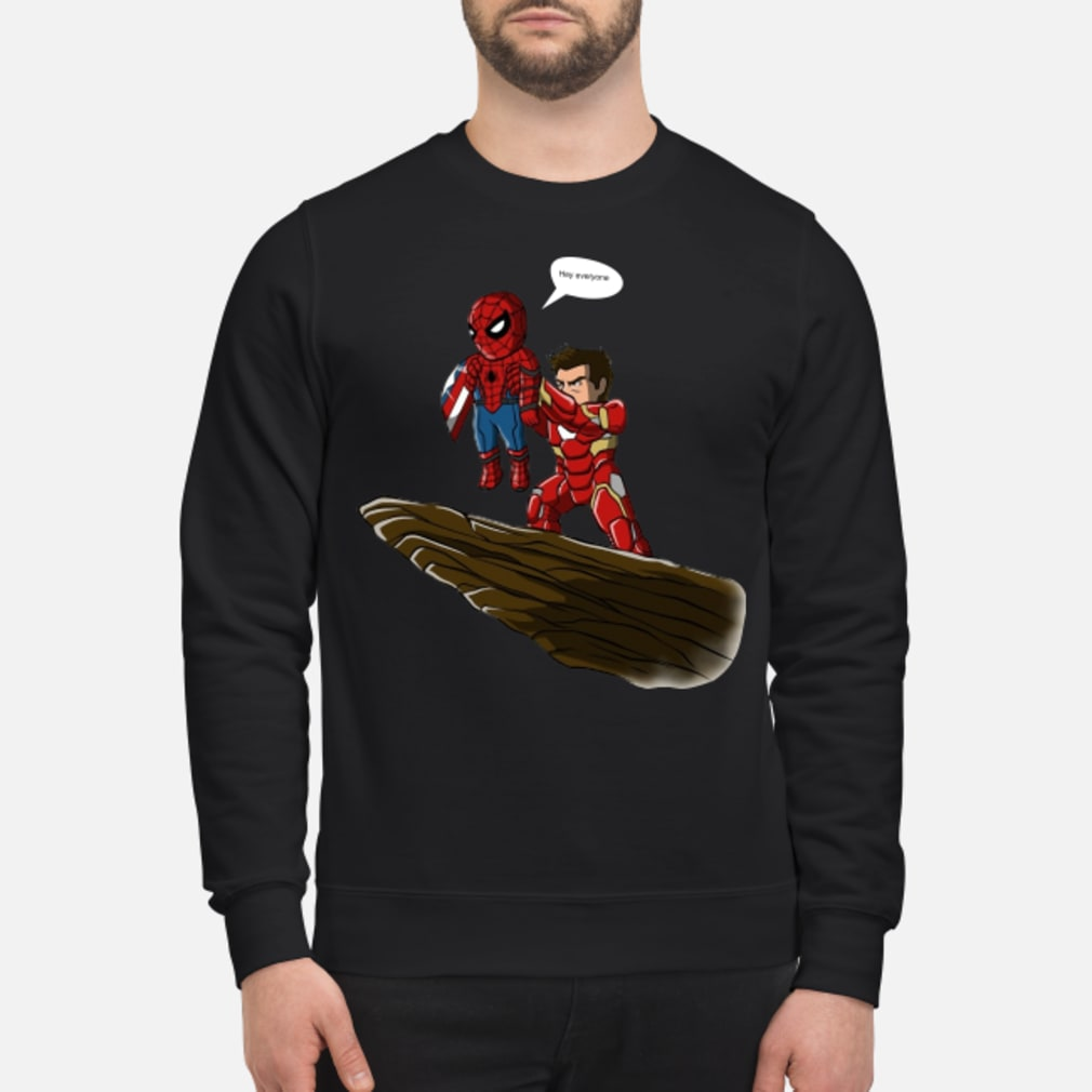 Lion King Spider-Man And Iron Man hey everyone shirt sweater