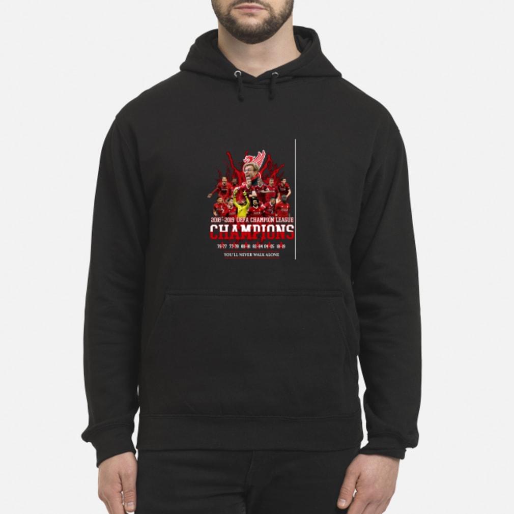 Liverpool 6x champions europe shirt hoodie