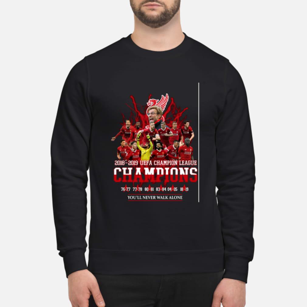 Liverpool 6x champions europe shirt sweater