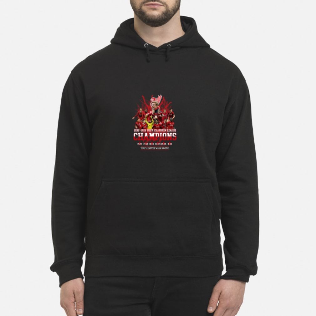 Liverpool UEFA Champion league champions 2019 you will never walk alone shirt hoodie