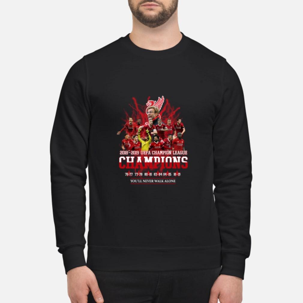 Liverpool UEFA Champion league champions 2019 you will never walk alone shirt sweater