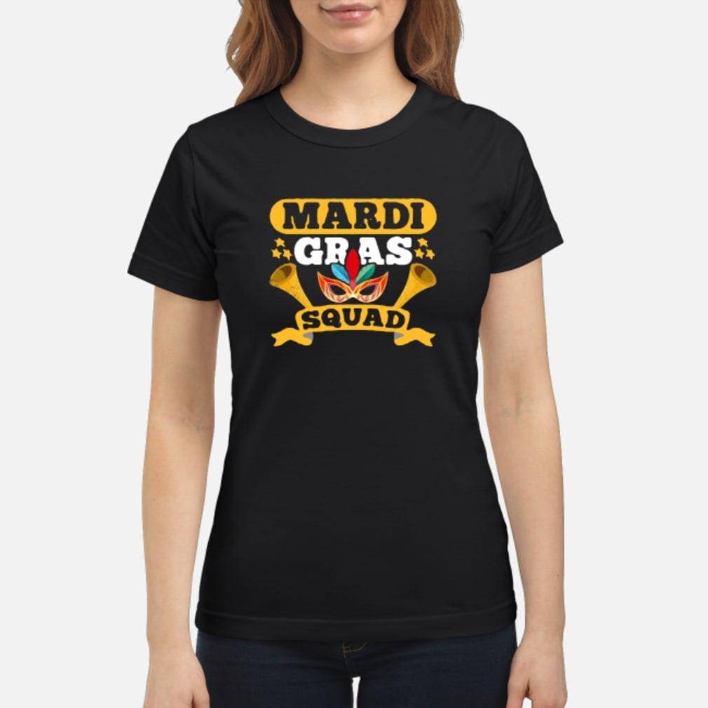 Mardi gras squad shirt ladies tee