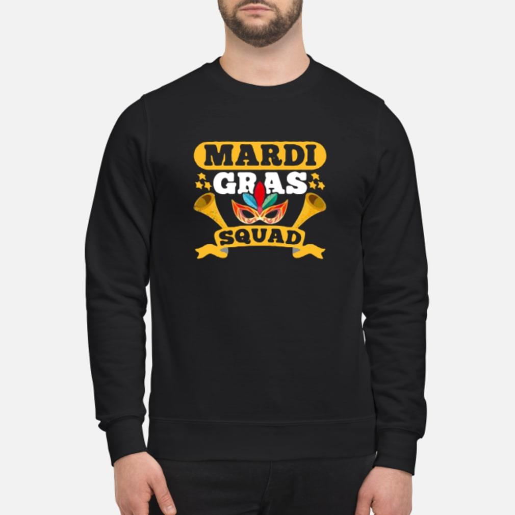 Mardi gras squad shirt sweater