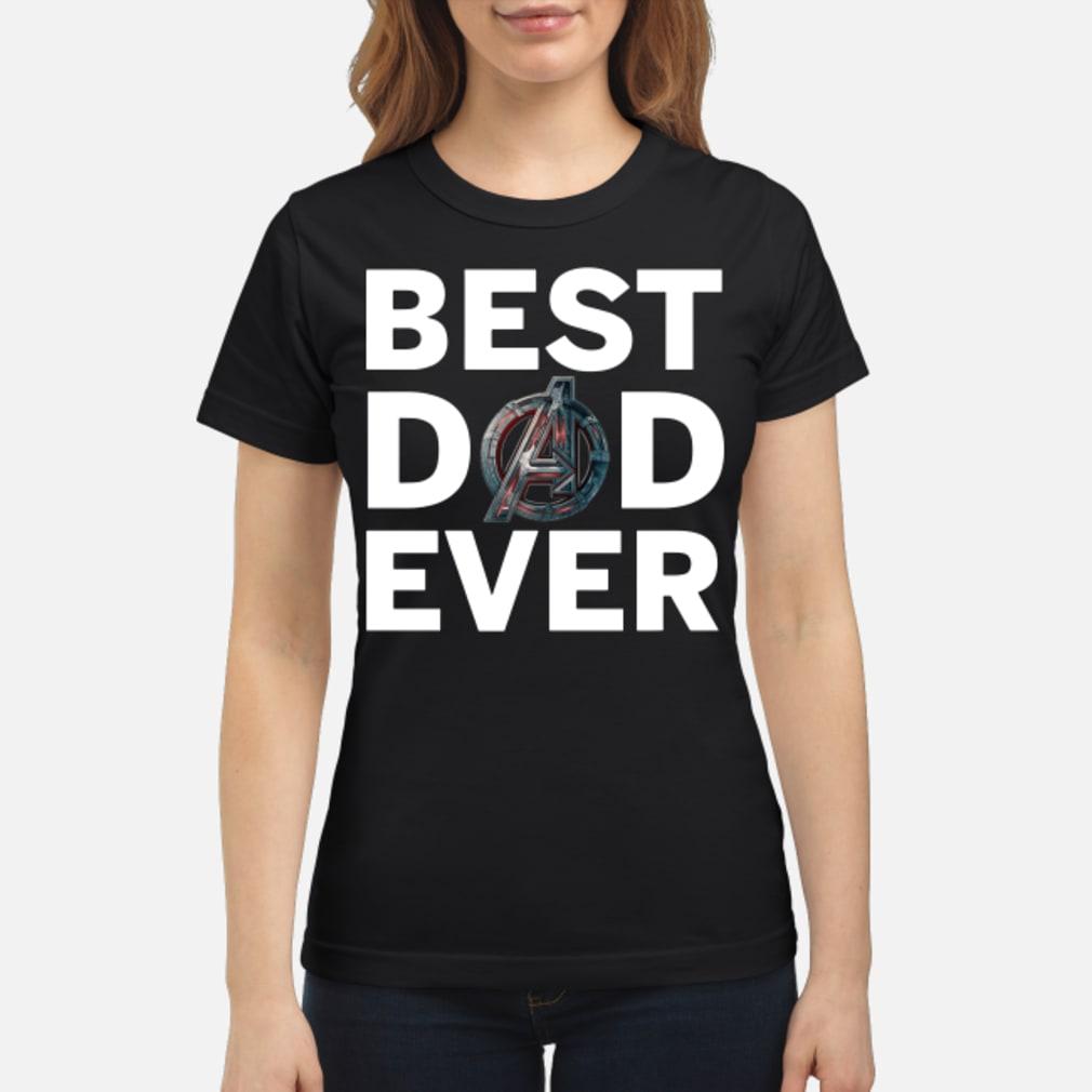 Marvel Avengers Endgame Best Dad Ever Shirt ladies tee