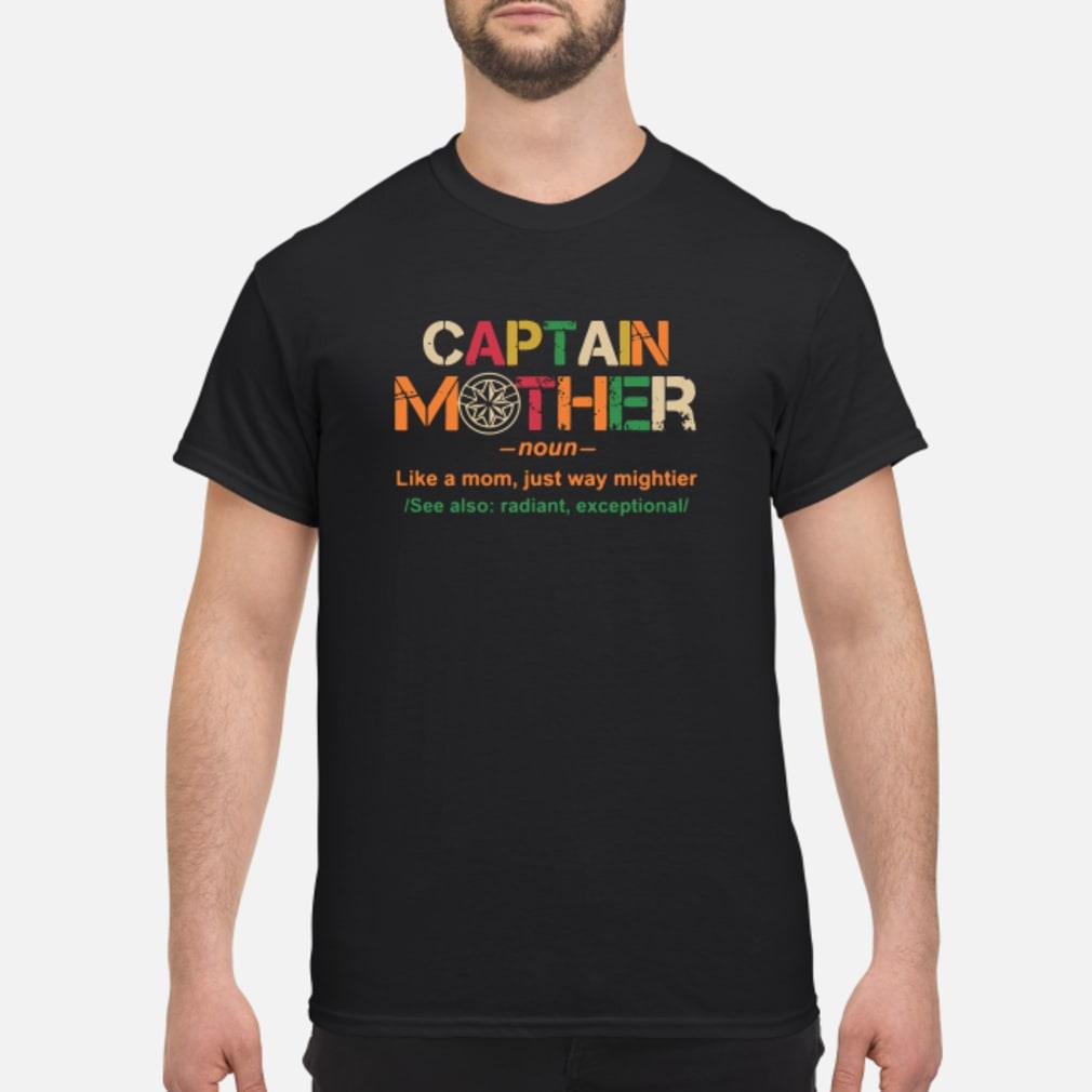 Marvel Captain mother noun like a mom just way mightier shirt