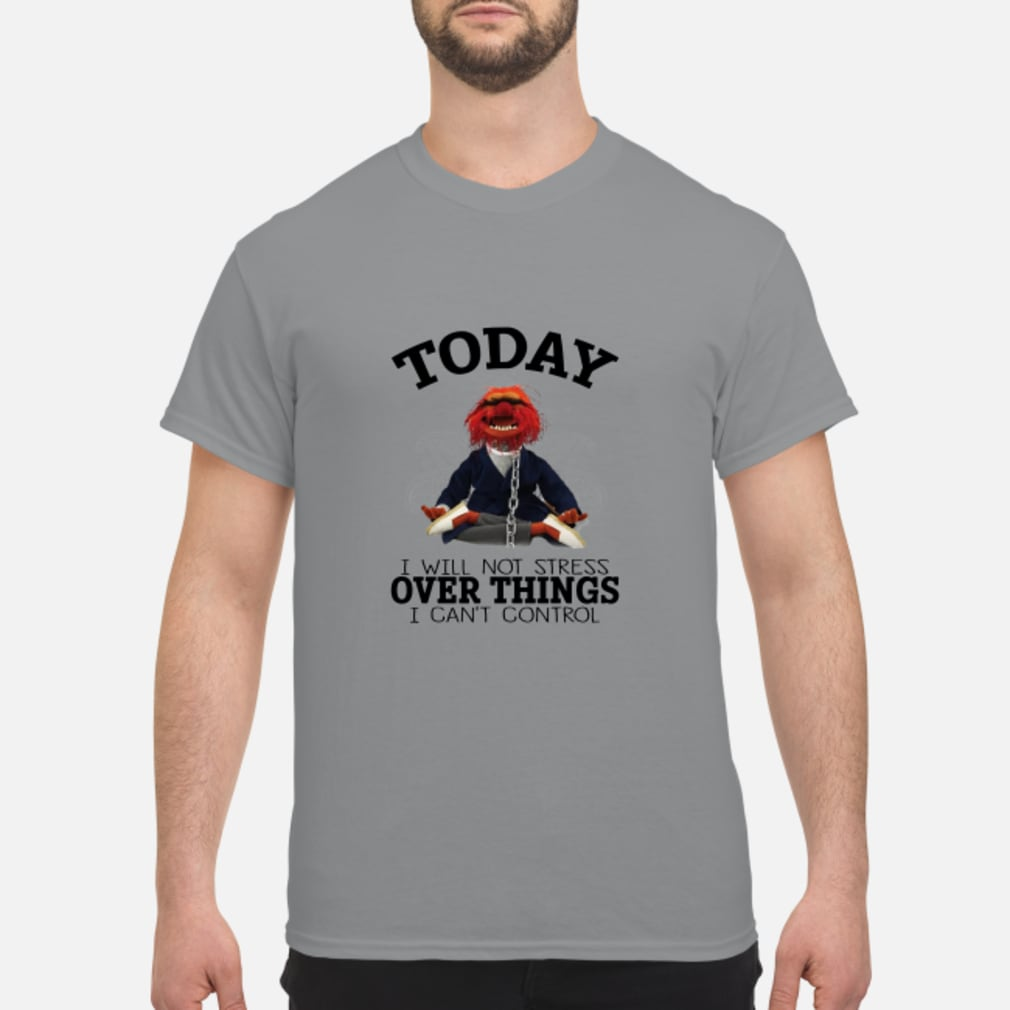 Muppets Yoga To day I will Not Stress Over things I cant Control shirt
