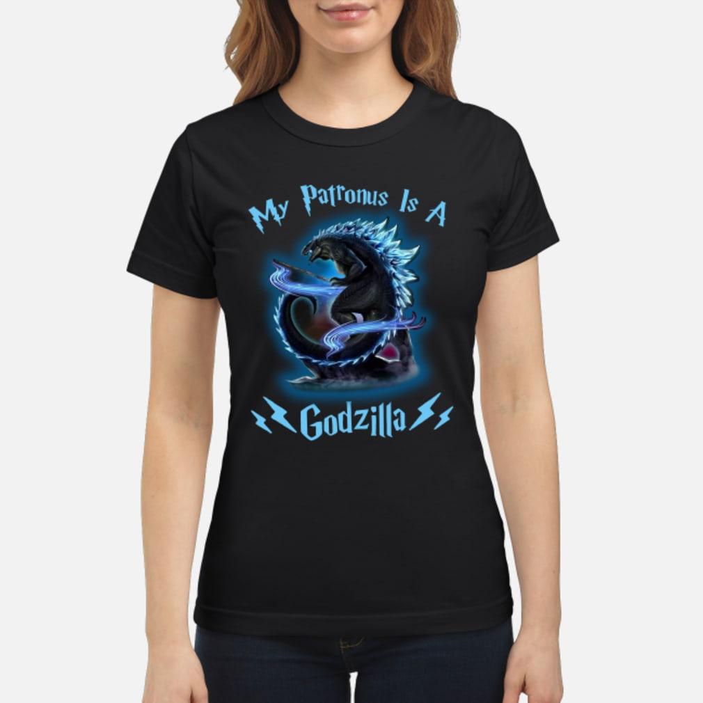 My Patronus Is A Godzilla shirt ladies tee