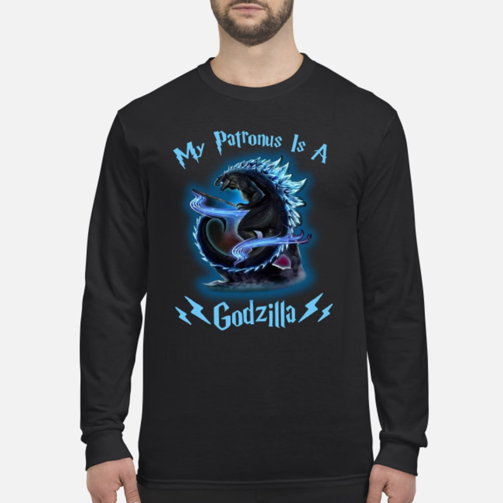 My Patronus Is A Godzilla shirt Long sleeved