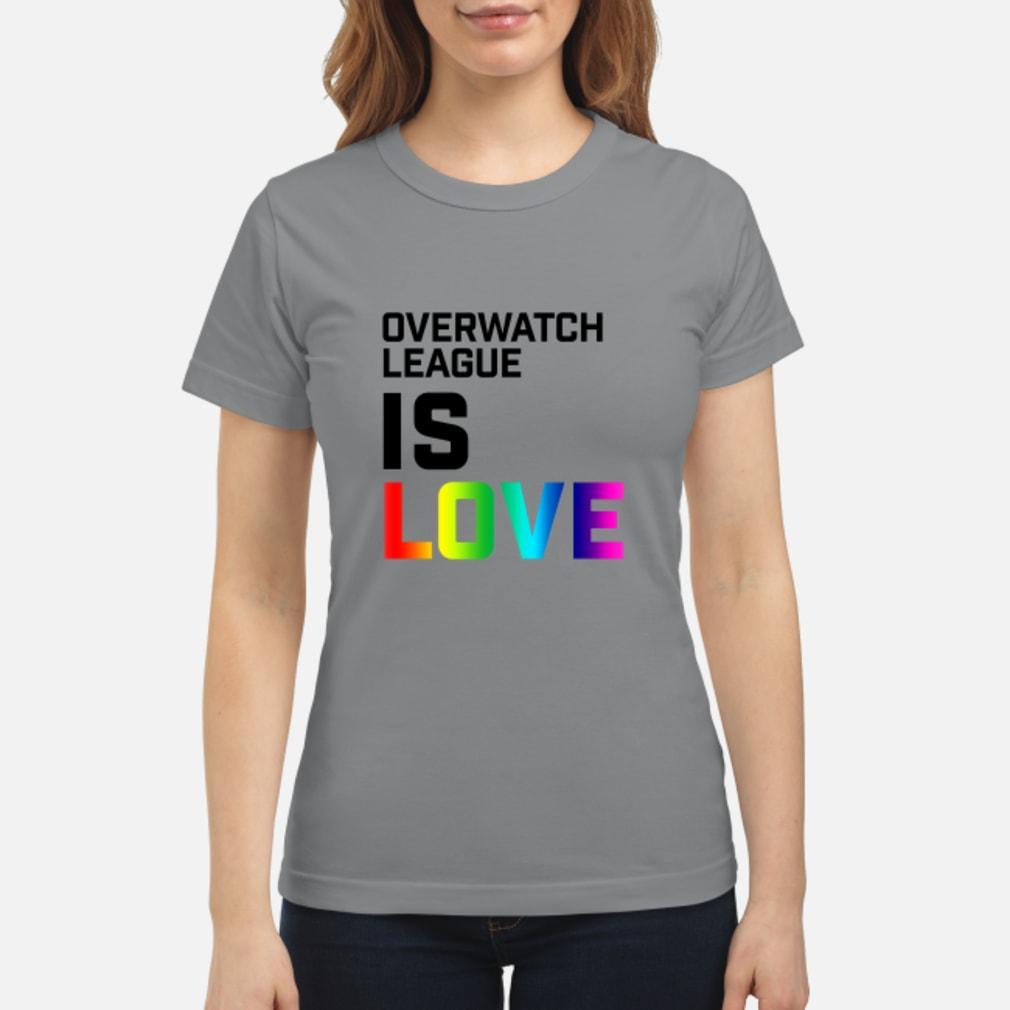 Overwatch League Is Love Shirt ladies tee
