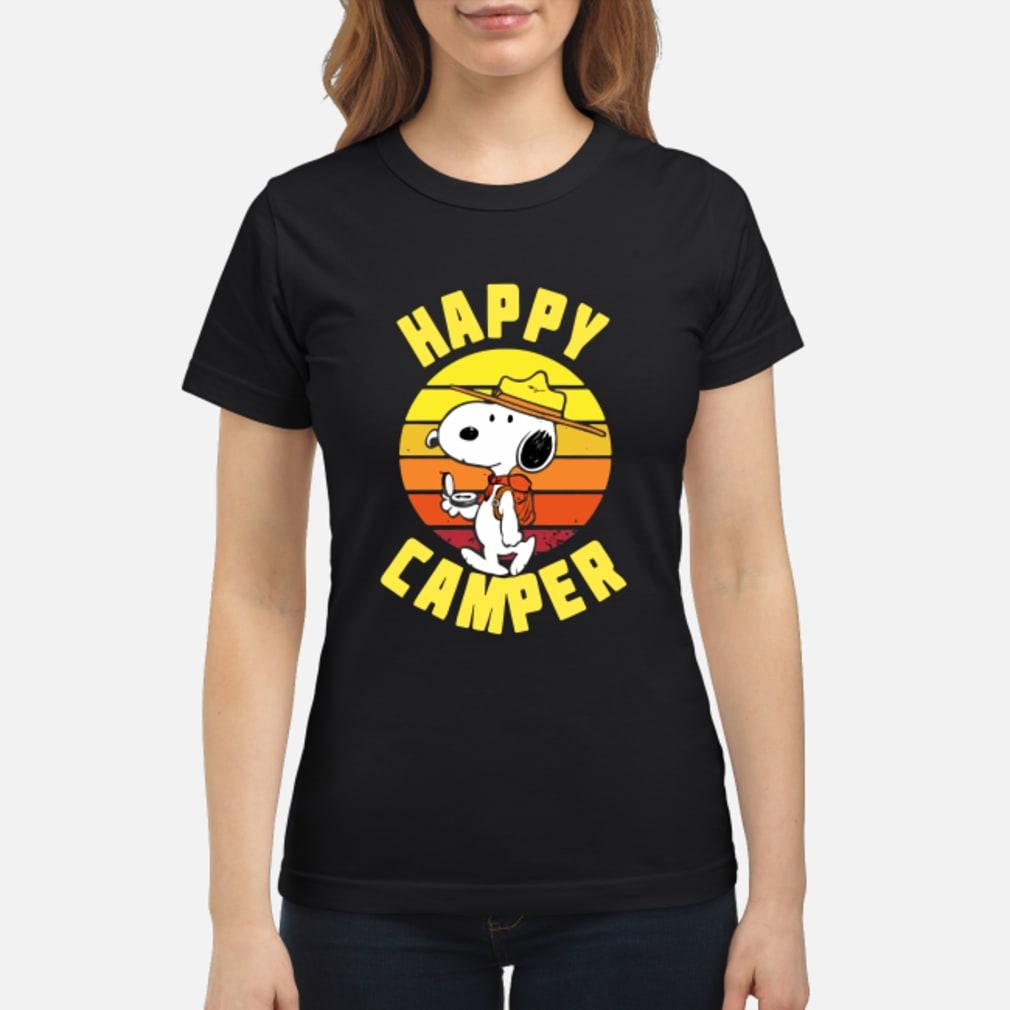 Peanuts Snoopy Happy Camper Vintage shirt ladies tee