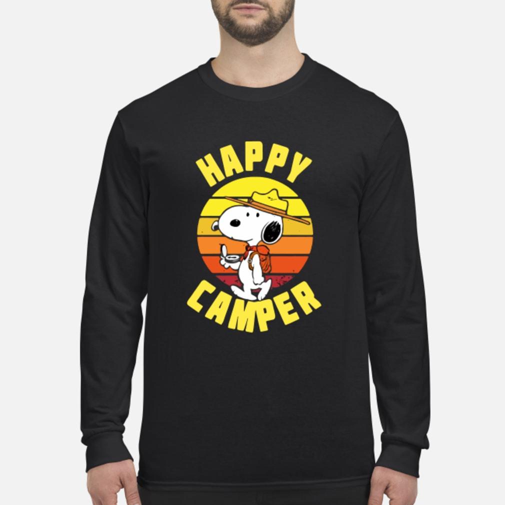 Peanuts Snoopy Happy Camper Vintage shirt Long sleeved