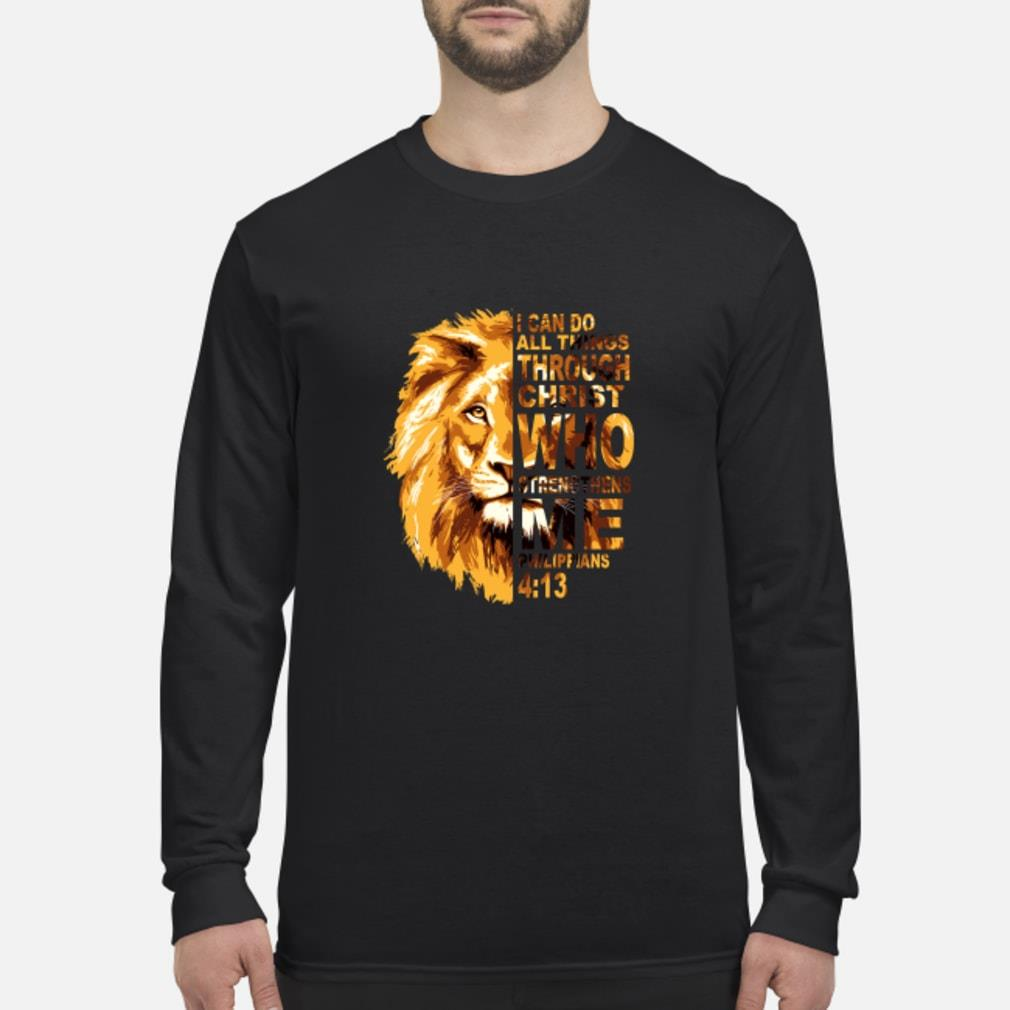 Philippians 4'13 Lion shirt Long sleeved