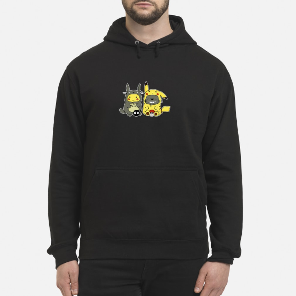 Pikachu and Totoro we are best friend shirt hoodie