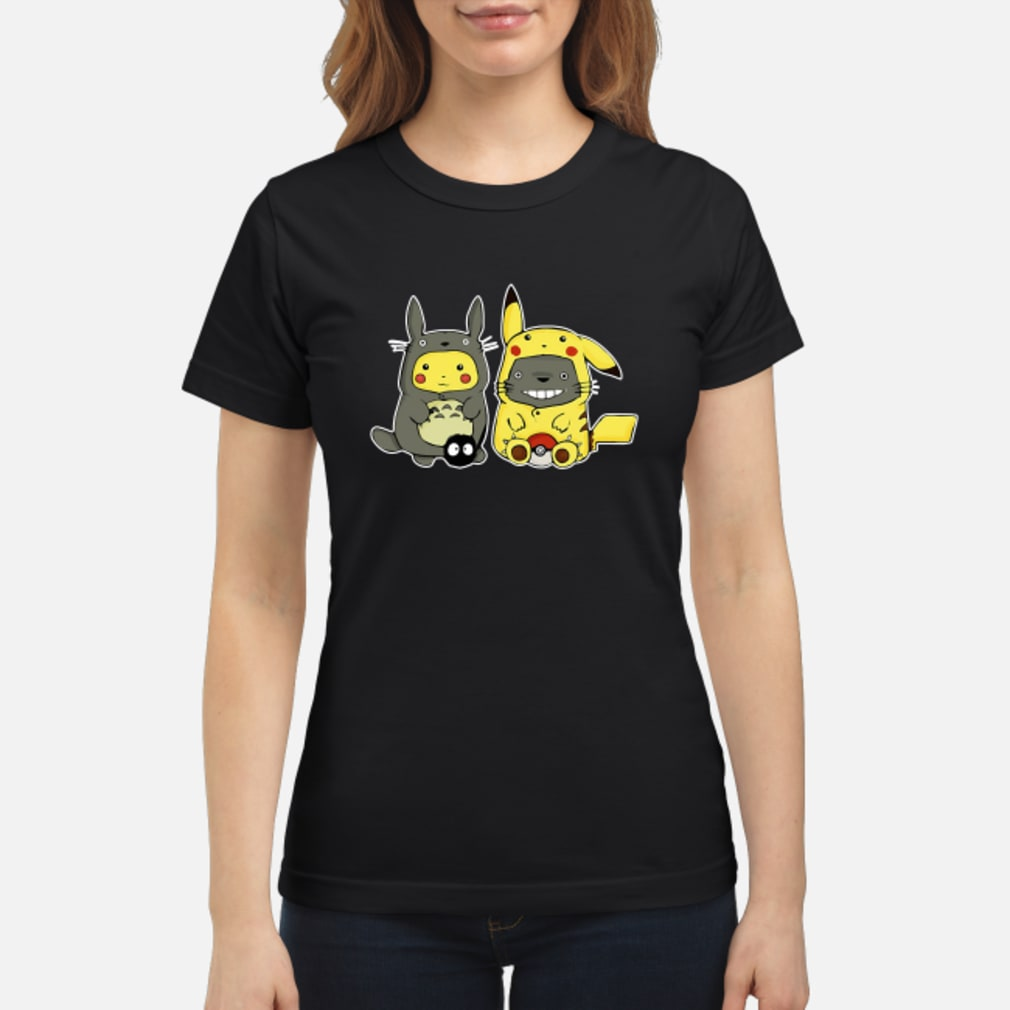 Pikachu and Totoro we are best friend shirt ladies tee