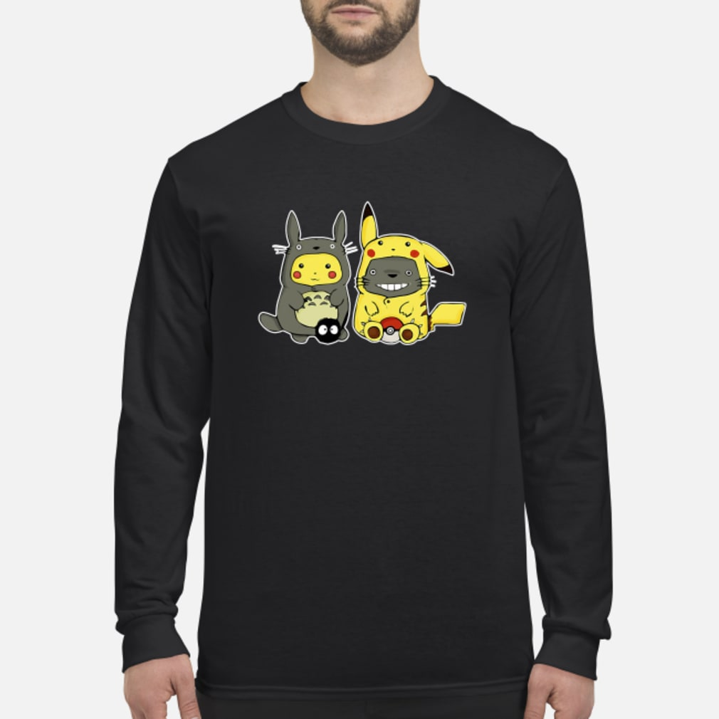 Pikachu and Totoro we are best friend shirt Long sleeved