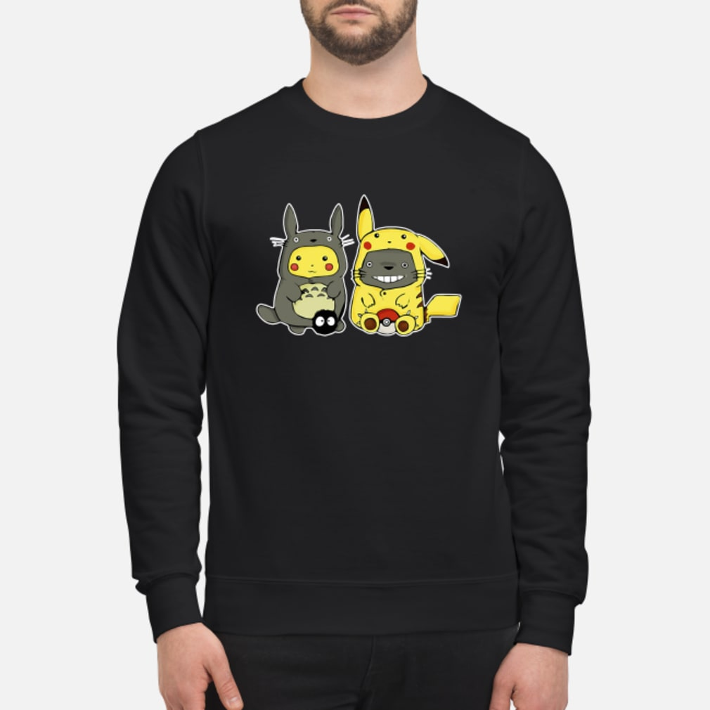 Pikachu and Totoro we are best friend shirt sweater