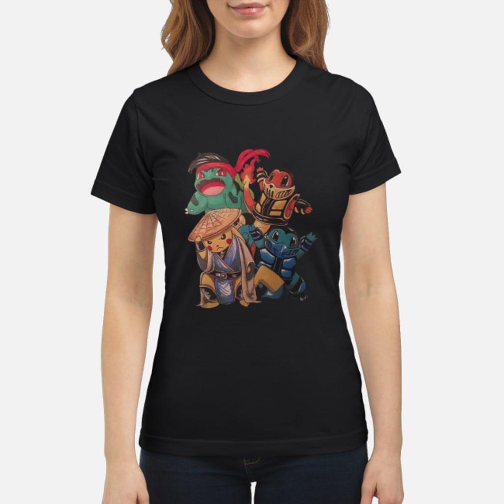 Pokemon Mortal Kombat Shirt ladies tee
