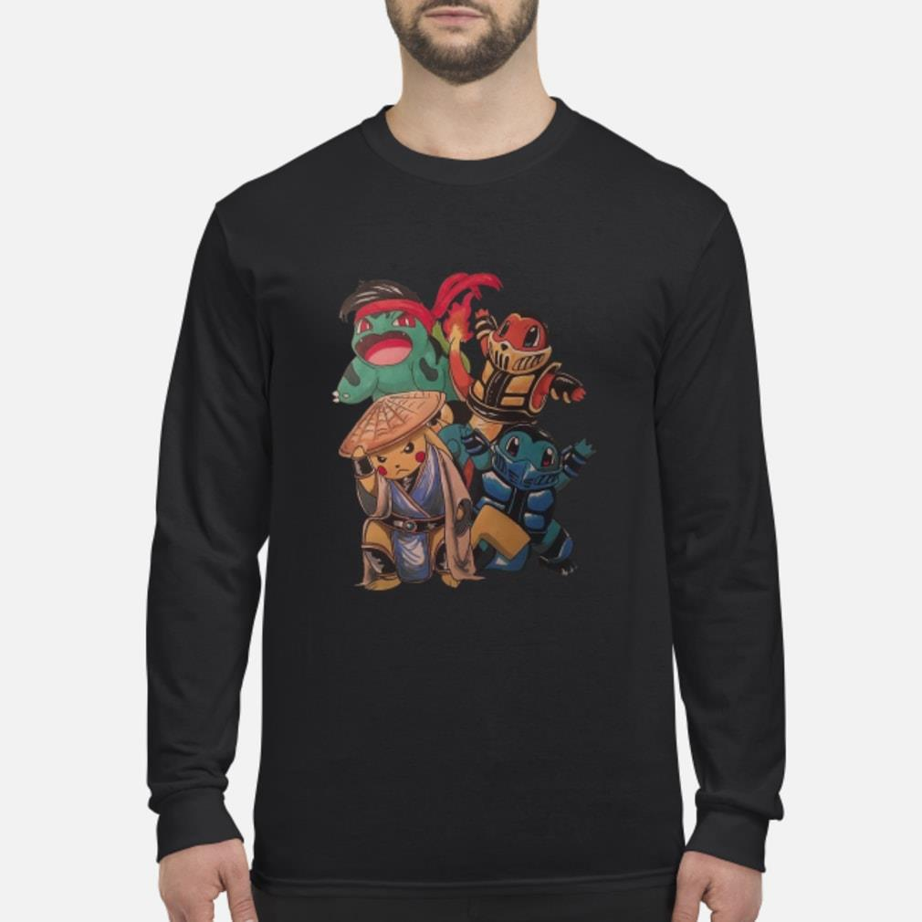 Pokemon Mortal Kombat Shirt Long sleeved