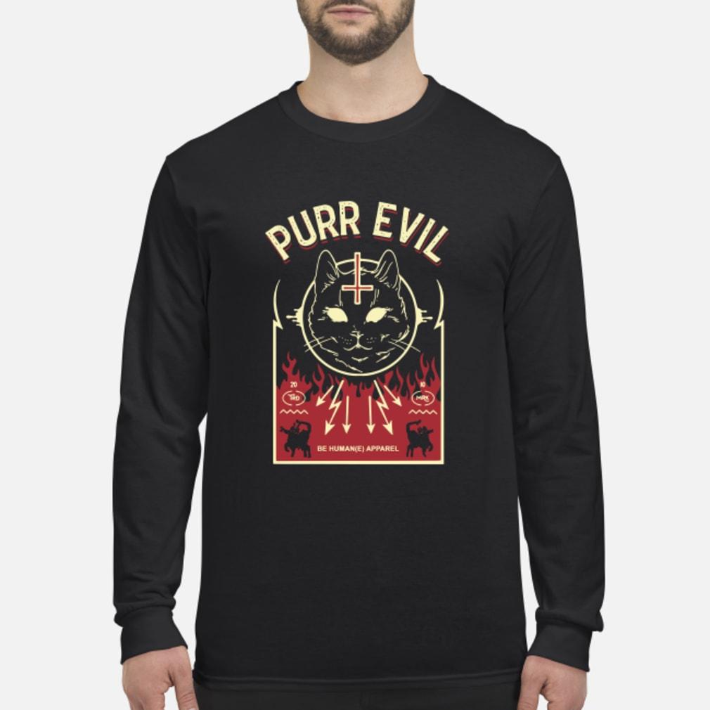 Purr Evil Satanic Cat shirt Long sleeved
