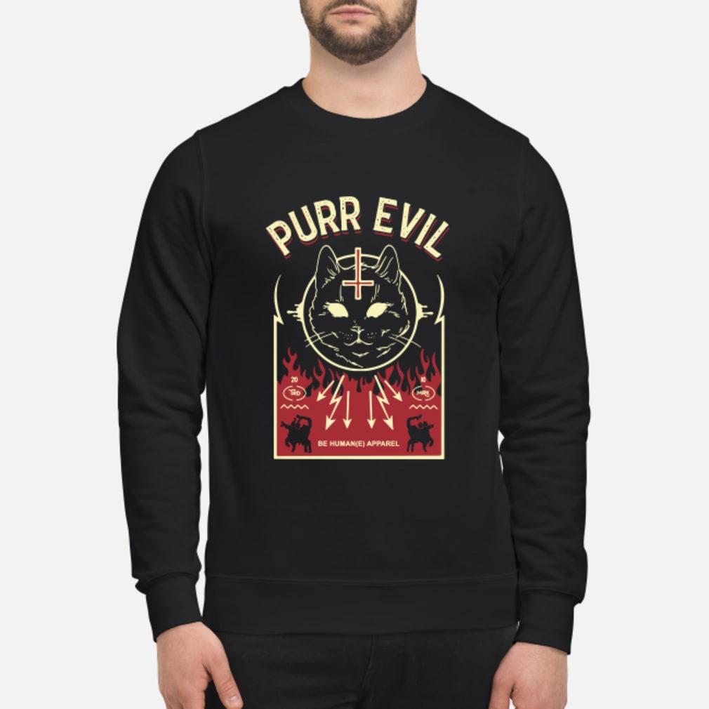 Purr Evil Satanic Cat shirt sweater