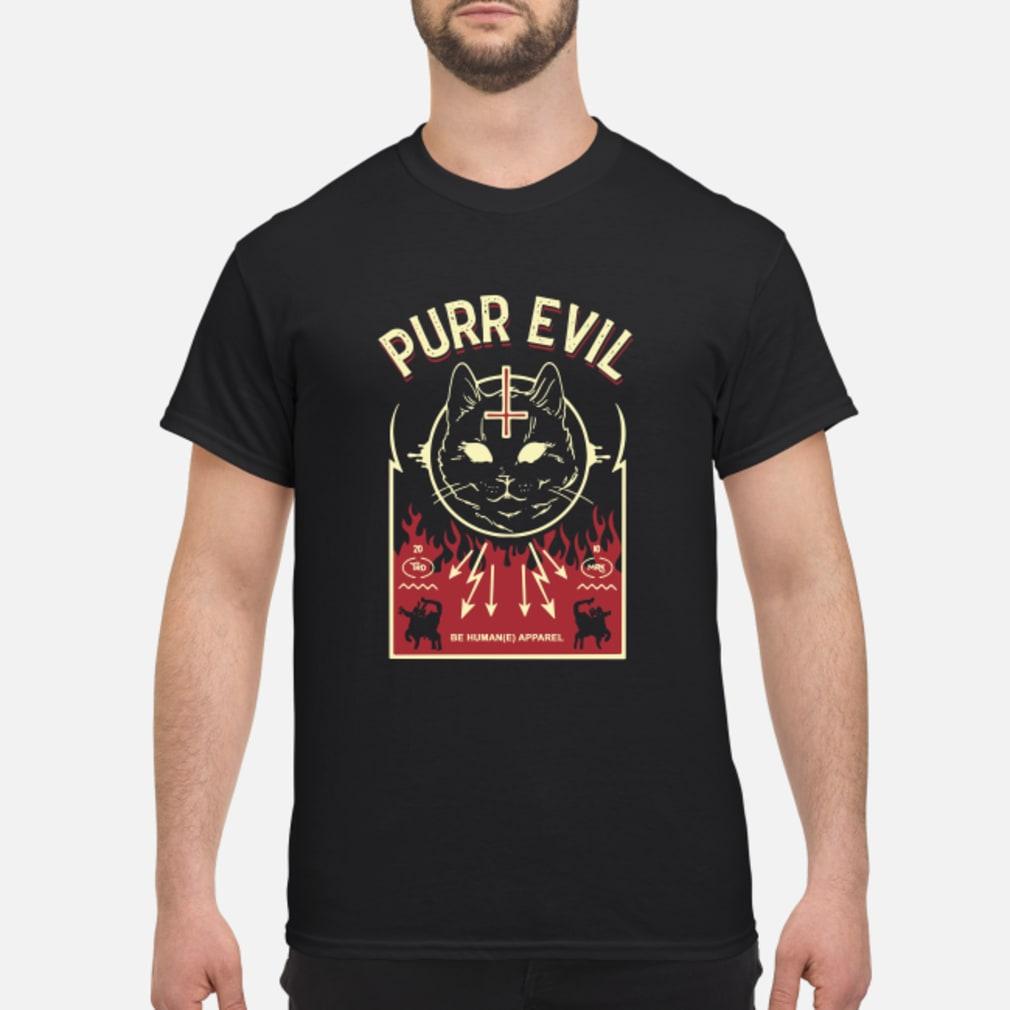 Purr Evil Satanic Cat shirt